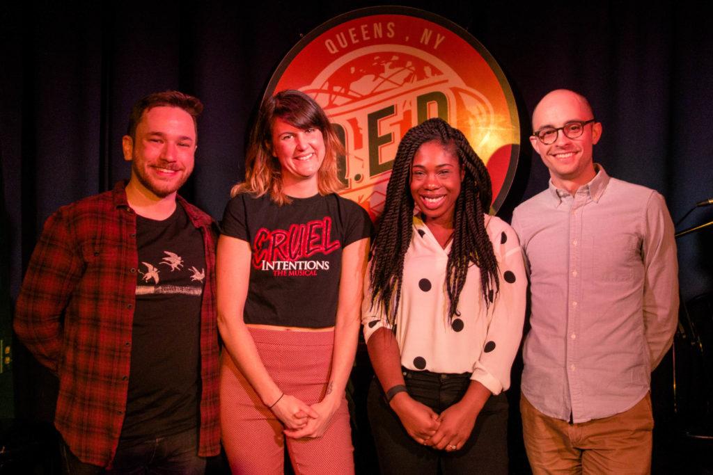 Pat Cartelli Mikki Hommel Lauren Ashley Smith and Evan Barden at QED in Astoria